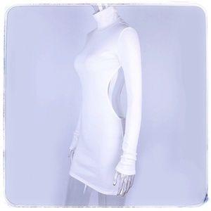 ♡♛ open back turtleneck mini dress